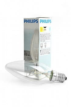 Лампа PHILIPS B35 60W E14 CL 011671