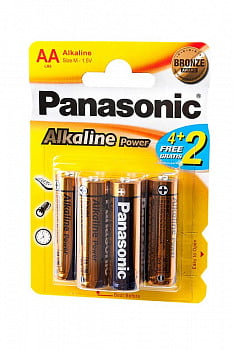 Элемент питания Panasonic Alkaline Power LR6APB/6BP 4+2F LR6 4+2 шт BL6