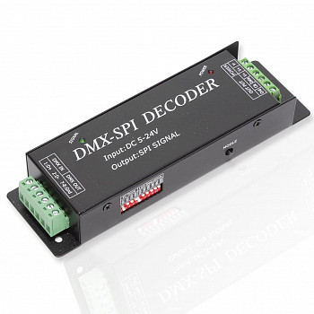 Dmx-spi контроллер dmx-480 (DC5-24V, Data, CLK, 480W)